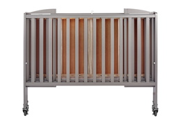 Steel Grey Folding Full Size Convenience Crib Silo3