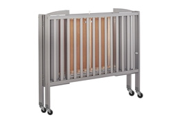 Steel Grey Folding Full Size Convenience Crib Silo4