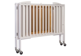 White Folding Full Size Convenience Crib Silo2