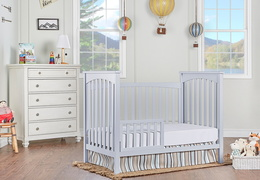 Pebble Grey Cape Town Toddler Bed RmScene