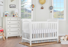 White Cape Town 5 in 1 Convertible Crib RmScene