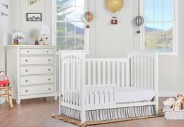 White Cape Town Toddler Bed RmScene
