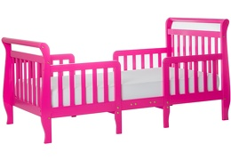 Fuchsia Pink Emma Toddler Bed Silo Side