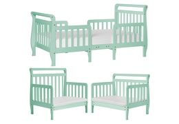 Mint Emma Toddler Bed Collage