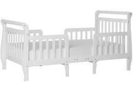 White Emma Toddler Bed Silo Side
