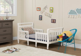 White Emma Toddler Bed Room Shot