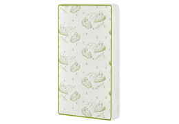 Baby Trend Nursery Center Breathable Two-Sided 3″ Inner Spring mattress with Square Corner Green/white