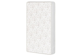 Breathable Two sided 3″ Square Corner Play Yard Mattress, White/Brown