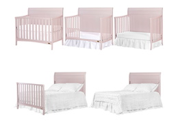 751-BP Bailey 5 in 1 Convertible Crib Collage