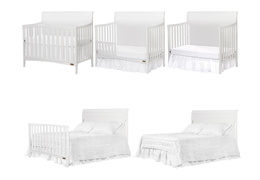751-W Bailey 5 in 1 Convertible Crib Collage