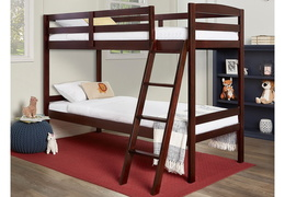 Logan Mini Twin Over Twin Bunk Bed RS 709-E