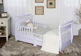 Lavender Ice Sleigh Toddler Bed With Storage Drawer RS