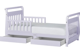 Lavender Ice Sleigh Toddler Bed With Storage Drawer Silo2