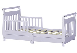 Lavender Ice Sleigh Toddler Bed With Storage Drawer Silo5