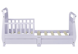 Lavender Ice Sleigh Toddler Bed With Storage Drawer Silo7