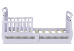 Lavender Ice Sleigh Toddler Bed With Storage Drawer Silo8