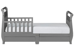 Storm Grey Sleigh Toddler Bed With Storage Drawer Silo3