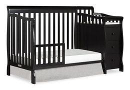 Black Brody Toddler Bed with Changer Silo