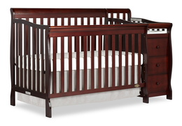 Espresso Brody 5 in 1 Convertible Crib with Changer Silo