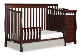 Espresso Brody Toddler Bed with Changer Silo