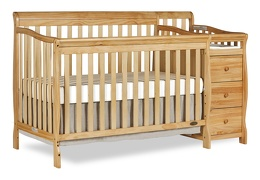 Natural Brody 5 in 1 Crib Silo with Changer