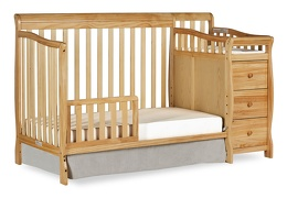 Natural Brody 5 in 1 Toddler Bed Silo with Changer