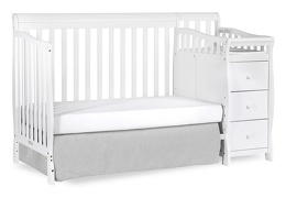 White Brody 5 in 1 Day Bed with Changer Silo