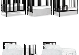 Black Synergy 5-in-1 Convertible Crib Collage