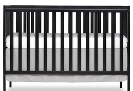 Black Synergy 5-in-1 Crib Front Silo