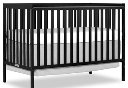 Black Synergy 5-in-1 Crib Side Silo