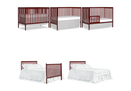 Cherry Synergy 5-in-1 Convertible Crib Collage