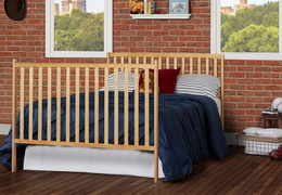Natural Synergy 5-in-1 Full Bed with Footboard RS
