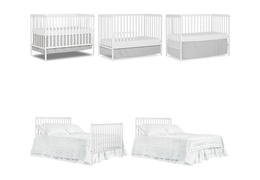 White Synergy 5-in-1 Convertible Crib Collage