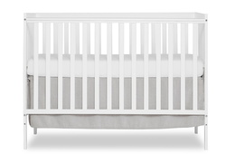 White Synergy 5-in-1 Convertible Crib Silo Front