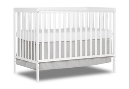 White Synergy 5-in-1 Convertible Crib Silo Side