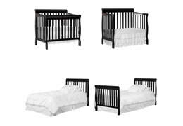Black Aden 4 in 1 Convertible Mini Crib Collage