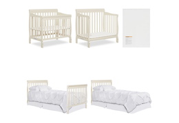 French White Aden 4 in 1 Convertible Mini Crib Collage