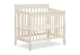 French White Aden 4 in 1 Convertible Mini Crib Silo Side