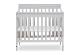 628-G Aden 4 in 1 Convertible Mini Crib Front Silo
