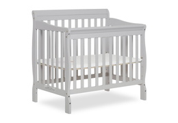 628-G Aden 4 in 1 Convertible Mini Crib Side Silo