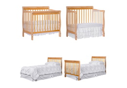 Natural Aden 4 in 1 Convertible Mini Crib Collage