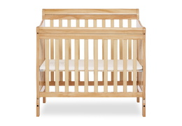 Natural Aden 4 in 1 Convertible Mini Crib Silo Front