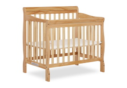 Natural Aden 4 in 1 Convertible Mini Crib Silo Side