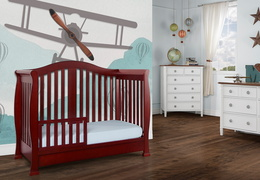Cherry Addison Toddler Bed Room Shot