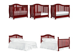 Cherry Addison 5 in 1 Convertible Crib Collage