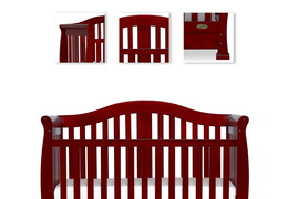 Cherry Addison 5 in 1 Convertible Crib Details