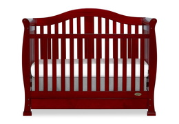 Cherry Addison 5 in 1 Convertible Crib Silo Front