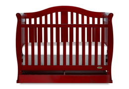 Cherry Addison 5 in 1 Convertible Crib Silo Front 1