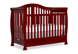 Cherry Addison 5 in 1 Convertible Crib Silo Side