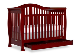 Cherry Addison 5 in 1 Convertible Crib Silo Side 1